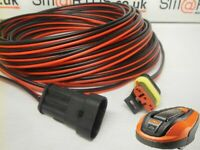 25m POWER CABLE FOR HUSQVARNA FLYMO GARDENA MCCULLOCH Robotic Lawn Mower NEW