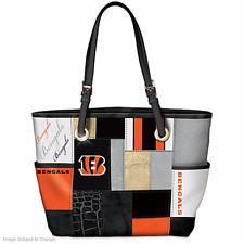 Cincinnati Football Bengals Purse Tote Bag Team Logos new Bradford Exchange Nfl