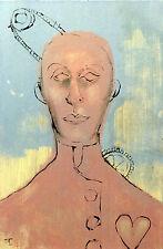 Peinture originale acrylique sur carton entoilé- signé -Artiste  FLAVIEN COUCHE