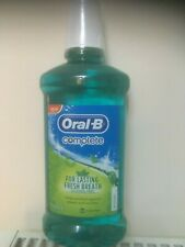 Oral B Complete Mouthwash, lge 500ml , alcohol free, uk stock, limited stock
