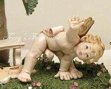 "New listing Fontanini Depose Italy 4.5"" Tumbling Cherub Nativity Angel Touching Toes 43165"