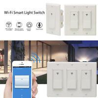 4× 3 Gang WiFi Wall Light Switch Timer For Amazon Alexa Google IFTTT Smart Life