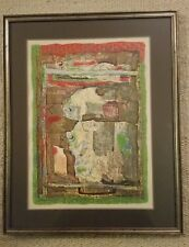 Shraga Weil Hand Signed And Numbered Serigraph Print. Framed Under Glass.