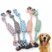 Pet Cotton Chew Knot Toy Dog Cute Puppy Multicolor Braided Bone Rope Chew Knots