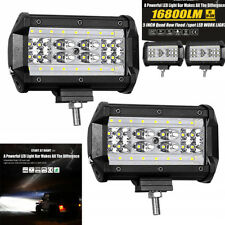 """A Pair 5""""INCH 144W LED Work Light Bar Flood Combo Pods Driving Off-Road 4WD 12V"""