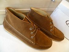 Quoddy USA chocolate suede chukka UK 10.5 45 brown leather moc toe ankle boot