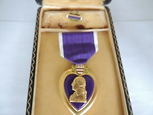 WW2 Vietnam US Army USAF USMC Boxed Wounded Medal Lapel Set