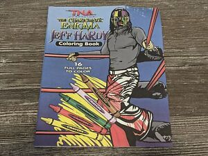 *NEW* JEFF HARDY The Charismatic Enigma TNA Impact Wrestling Adult Coloring Book