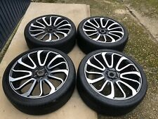 """Range Rover Sport / Vogue 22"""" Turbine Style Alloys Wheels With Tyres X4"""