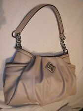 SIMPLY VERA WANG Handbag Shoulder Purse Bag Hobo BEIGE Chain Strap