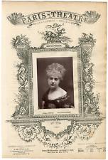 Lemercier, Paris-Théâtre, Mme Théo née Anne-Louise Picolo (1850-1922), chanteuse