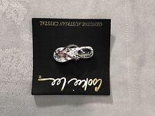 Cookie Lee Pink FLIP FLOP Genuine Austrian Crystal Pin Jewelry