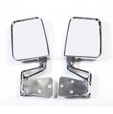 Chrome Dual Focal Mirror Pair fits Jeep Wrangler YJ TJ 1987-02 Rugged Ridge
