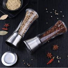 2x Manuell Pfeffermühle Gewürzmühle Salzmühle Pfefferstreuer Keramikmahlwerk