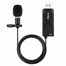 Usb Lavalier Lapel MicrophoneFifine Clip-on Cardioid Condenser Computer mic Plu