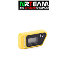NRTEAM CONTAORE WIRELESS CROSS ENDURO VIBRAZIONE VIBRATION HOUR MOTO GIALLO