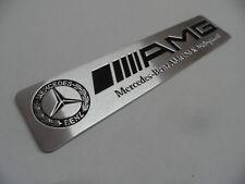 AMG - Mercedes Alu Plakette 3D Sticker, Aufkleber, Emblem, Schriftzug, Badge,
