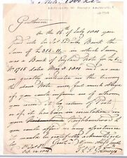 DBAp1801.2 GB BANKING Letter re Retrieval of a FORGED BANKNOTE/Charing Kent