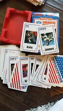 1986 WADDINGTONS NFL FOOTBALL CARD SET OF 40 UK PAYTON BRADSHAW SWANN RIGGINS