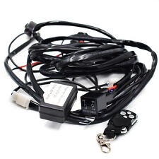 12V Car Remote Control Flash Strobe 2Lead LED Light Wiring Harness Kit Advanced