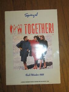 1988 Fall Winter Spiegel Together Fashion Colored Paper Catalog