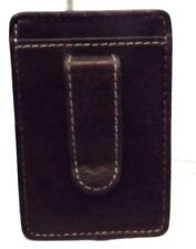 American Living Men's Wallet Money clip ID holder Brown Leather