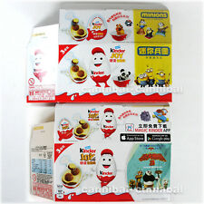 ~ KINDER - Joy Surprise Egg - Hong Kong - MINIONS + KUNG FU PANDA- 2 empty packs
