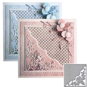 Lace Square Frame Metal Cutting Dies Scrapbook Embossing Stencil Paper Card DIY