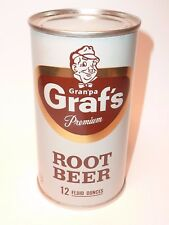 12oz Grandpa Graf's Premium Root Beer Flat Top *** Mint Condition!! ***