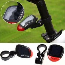 Solar Powered LED Rear Flashing Tail Light for Bicycle Cycling Lamp Safety TR UK