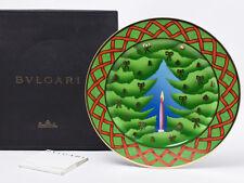 BVLGARI Porcelain Dinner Plate Dish Saucer Tableware X'mas 2000 L/d Ornament