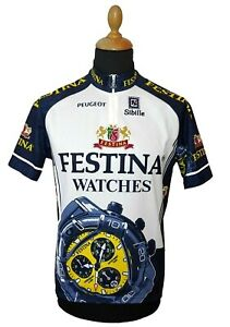 Sibille Cycling Jersey XXL Festina Watch Men Colorful Racing 2XL Made In Italy