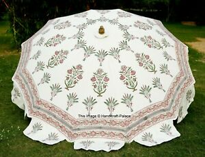 Indian Royal Mughal HandBlock Print Big Size Umbrellas Beach Hotels Umbrellas