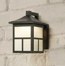 Hampton Bay Black Outdoor Integrated LED Wall Lantern Sconce / 218