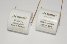 2x MCAP 0,47µf - 450 v Mundorf goldpin Evo Silver-Or-oil capacitor film