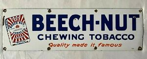 "Vintage Lorillard's Beech Nut Chewing Tobacco 30""x9"" Porcelain Sign"
