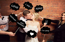 10 Chalkboard Cardboard Signs Speech Bubbles Photo Booth Props Wedding Party AU