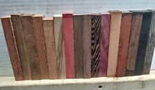 "(16) LOT OF 16,  ASSORTED PEN BLANKS WOOD TURNING SQUARE 3/4"" X 3/4"" X 6"""