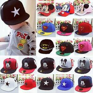 Cartoon Novelty Baseball Cap Kids Children Baby Boys Girls Summer Snapback Hat