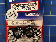 Pro Track #518 Daytona stockers 1.01 x .500 wide 585 hub 1/8 axle Mid America