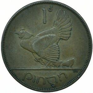 1935 IRELAND / EIRE ONE PENNY COIN POST 1920 PRE DECIMAL  #WT25166