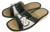 New Natural Leather Slippers Flip Flops Sandals UK Size 3 4 5 6 7 8