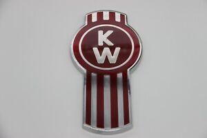 Fits Kenworth Bug Hood Grille Logo Emblem Badge Chrome Red