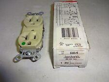 P&S 8300-HI DUPLEX RECEPTACLE COMPACT HOSPITAL GRADE 20A 125V IVORY