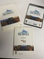 Final Fantasy XI Online PS2 (PlayStation 2) Game CIB Complete W/ Game Manual