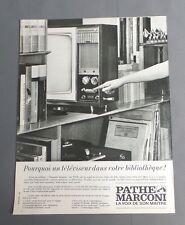 PUBLICITE ANCIENNE ADVERT CLIPPING 310817 TELEVISION PATHE MARCONI LA VOIX DE SO