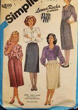 Vtg Simplicity Fuss Free pattern 6527 Misses' Skirts size 12 waist 26-1/2 uncut