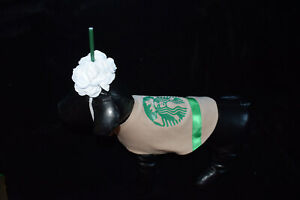 new Dog Halloween Costume frapuccino coffee cute food drink size XS S M L XL