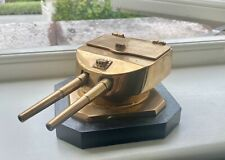 More details for antique brass cast from metal used from ex- h.m.s. tiger battlecruiser inkwell