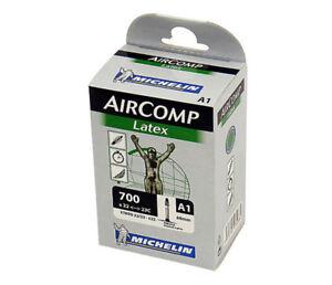 Michelin AirComp A1 LATEX Road Bike Inner Tube 700c x 22-23 Presta - 60mm